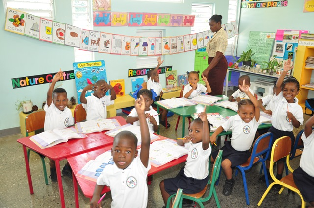 Students at the Union Gardens Infant School in South West St. Andrew, enthused about learning in a new state-of-the-art facility.