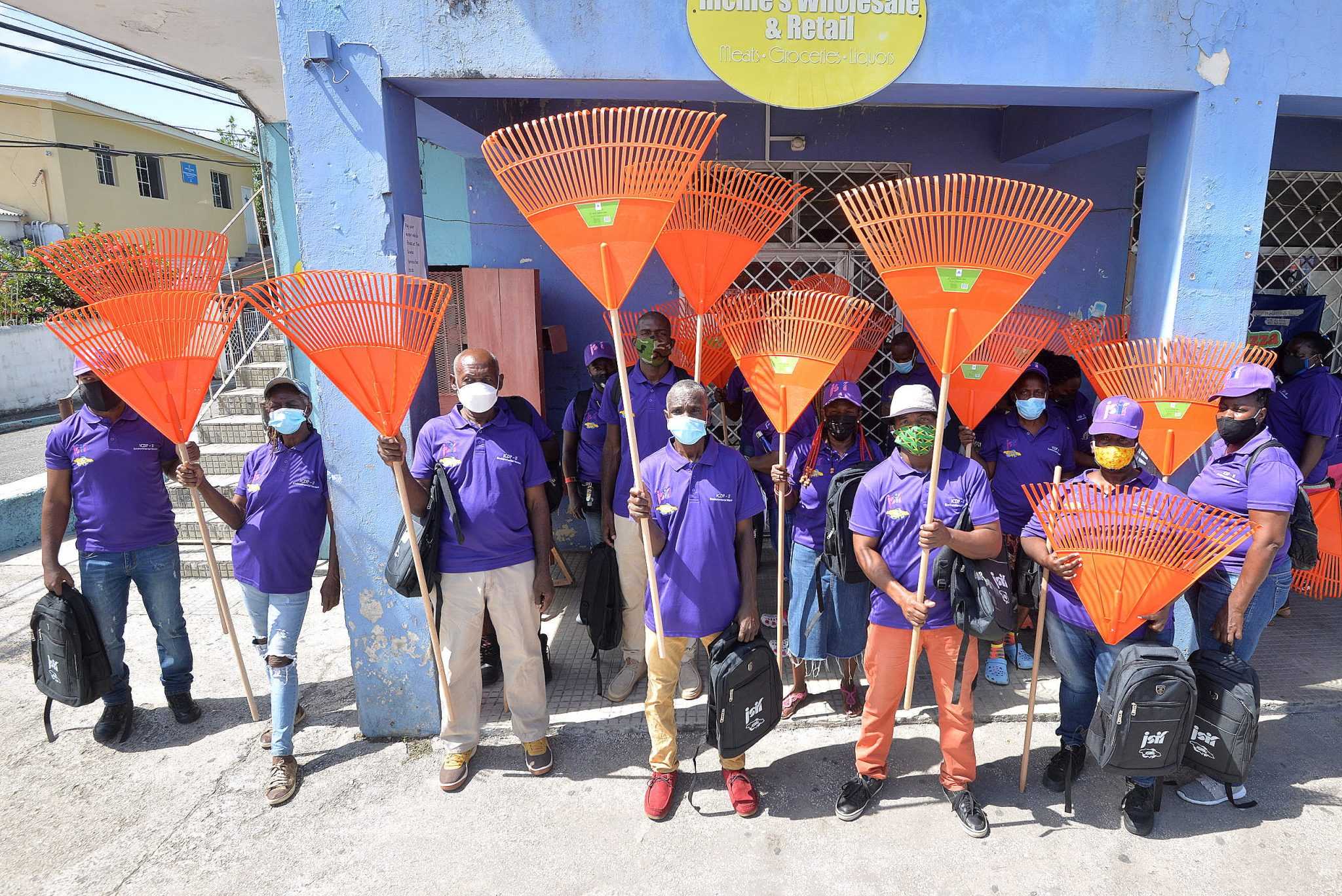 Environmental Wardens for the August Town community, at the launch of the project, on Monday (May 17).